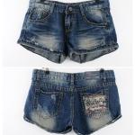 พร้อมส่ง ::MO-P001-L:: กางเกงยีนส์ขาสั้น ไซต์ L