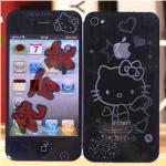 ฟิล์มกันรอยไอโฟน 4/4s ลาย 3D Kitty (2ด้าน)