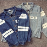 เสื้อแจ๊คเก็ตยีนส์ EXO