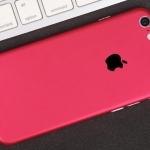 ฟิล์มหลังเครื่อง Iphone 6/6s (สีชมพู)