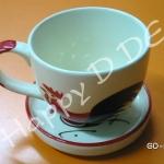 ของชำร่วย แก้วน้ำ พร้อมจานรองแก้ว เซรามิค GD-ml61