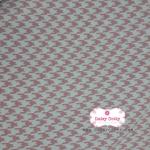 ผ้าคอตตอนไทย 100% 1/4 ม.(50x55ซม.) ลายชิโนริสีชมพูสลับขาว