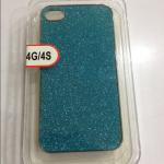 เคสไอโฟน 4/4s Hard Case กากเพชรสีฟ้า
