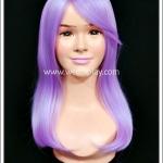 วิกผมคอสเพลย์ สีม่วงอ่อน มีหน้าม้า ไหมทนร้อน Light Purple Cosplay Wig