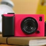 เคสไอโฟน4/4s (Case Iphone4/4s) Hard Case ( i camera case กล้องถ่ายรูป สีชมพูเข้ม)