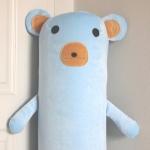 ปลอกหมอนข้างตุ๊กตาหมี สีฟ้า ## พร้อมส่งค่ะ ##