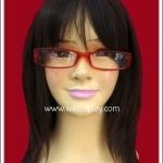 แว่นตาพลาสติกอย่างดี แบบเหลี่ยม กรอบสีแดงเนื้อขุ่น Fancy Cosplay Glasses