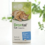 Drontal Cat ยาถ่ายพยาธิแมว (40 เม็ด 1399.-)