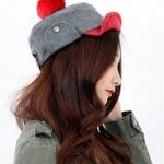พร้อมส่ง ::MO146G:: หมวกแฟชั่นน่ารัก สีเทาอ่อน