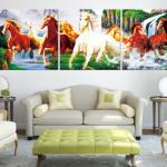 ภาพกรอบลอย ม้าขาว ม้าผู้นำ กลางป่า Arthome314