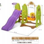 ชิงช้า สไลเดอร์ เกาหลี Yaya CCOMO Slide & Swing สีเขียว