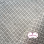 ผ้าทอญี่ปุ่น 1/4ม.(50x55ซม.) ลายตารางสีเทา