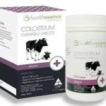 นมเพิ่มความสูง ชนิดอัดเม็ด Health Essence Colostrum Chewable Tablets
