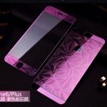 ฟิล์มกระจกลายเพชร หน้า-หลัง Iphone 6Plus/6sPlus สีม่วง