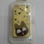 เคสไอโฟน 4/4s เคสไอโฟน Hard Case Cate Cat กรอบเหลือง (หัวแมวเป็นกระจกค่ะ)