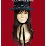 หมวกพังค์ ไลน์สโตนสคัล Line Stone Skull Punk Hat