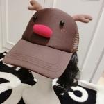 พร้อมส่ง ::MO220:: หมวกแฟชั่นน่ารัก กวางน้อย สีน้ำตาล เหมือนแบบค่ะ