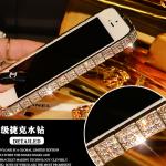 เคสไอโฟน 6 (ฺฺBumber case ) กรอบสีเงินฝังเพชรไอโซ