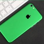 ฟิล์มหลังเครื่อง Iphone 6/6s (สีเขียว)