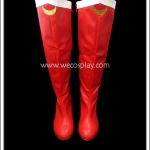 รองเท้าบูทเซเลอร์มูน สีแดงประดับพระจันทร์ Sailor Moon Boots