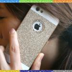 เคสไอโฟน 6 (Hard Case ) กรอบกากเพชรสีทองประดับเพชรวงกลมแอปเปิ้ล