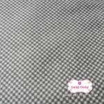 ผ้าคอตตอนไทย 100% 1/4 เมตร ลายตารางสีเทาเข้ม