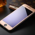 ฟิล์มกระจก 3D แสงม่วงเป็นมิตรต่อดวงตา ฟิล์มแบบเต็มจอ (สีทอง) สำหรับ Iphone 6/6s