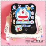 Mouse Pad (ที่รองเม้าส์) ขนาด 25*19 CM ลาย Doraemon สีดำ