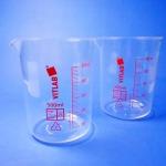 บีกเกอร์ พลาสติก เนื้อขาวใส Beaker plastic (PMP)