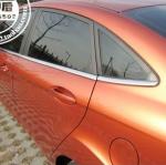 FJ-007 ขอบกระจกสแตนเลสครึ่งคัน Ford Fiesta 4 ประตู เป็นสเตนเลสแท้ 100 % ทั้งหมด 8 ชิ้น