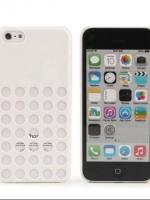 เคสไอโฟน 5c (New Colorful Utral Thin Slim Hard PP Back Case Cover Skin For Apple iPhone 5C) สีขาว