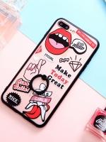 เคสไอโฟน 7 Plus (Silicone case and Hard case back) Cosmetics พร้อมห่วง