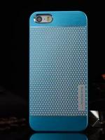 เคสไอโฟน 6 Plus เคสไอโฟน Hard Case Motomo กรอบอลูมิเนียมเกาหลีลายจุด สีฟ้า