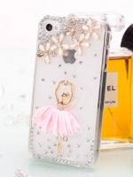 เคสไอโฟน 5/5s (Case Iphone 5/5s) เคสไอโฟนกรอบใส สาวเต้นบัลเล่ย์ กระโปรงสีชมพู