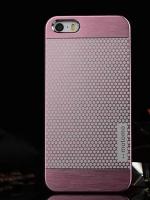 เคสไอโฟน 6 Plus เคสไอโฟน Hard Case Motomo กรอบอลูมิเนียมเกาหลีลายจุด สีชมพู
