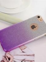 เคสไอโฟน 7 Plus (TPU Case) เคสกากเพชรสีม่วง