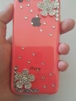 เคสไอโฟน5C (Soft Case) คลุมรอบเครื่องประดับดอกไม้สไตส์เกาหลี