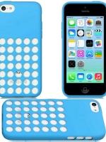เคสไอโฟน 5c สีฟ้า (TPU เคสนิ่ม)