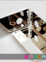เคสไอโฟน 6 Plus (TPU Case) ด้านหลังเคลือบพลาสติกกระจกสีทอง