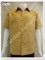 เสื้อไหมผสมฝ้าย สีเหลืองไพร