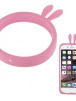 เคสไอโฟน Bumper Silicon Case For iphone 5 /5s/5c สีชมพู (2IN1 Wristband + Bumper Case)