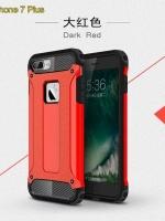 เคสไอโฟน 7 (Silicone case and Hard Case Back) Red Aluminium