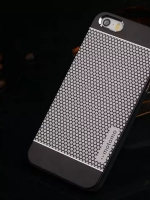 เคสไอโฟน 6 Plus เคสไอโฟน Hard Case Motomo กรอบอลูมิเนียมเกาหลีลายจุด สีดำ