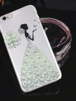 เคสไอโฟน 6 เคสเจ้าหญิงประดับเพชรกระโปรงเขียว