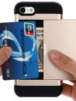 เคสไอโฟน 7 (Silicone Case Inside and Aluminium Outside) Mutifunction เก็บนามบัตรได้ สีทอง