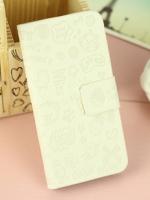 เคสไอโฟน 5/5s (Case Iphone 5/5s) กระเป๋าลายแม่มดน้อย สีขาว