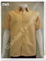 เสื้อไหมญี่ปุ่นชาย ซาฟารี (สีครีมอ่อน) ซ2S
