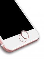 ปุ่มโฮมไฮโฟน (Touch ID Button) สแกนลายนิ้วมือได้ สีขาวขอบทองชมพู