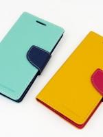 เคสไอโฟน5C (Wallet Case) Blue-DarkBlue (ภาพซ้าย)