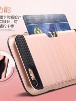เคสไอโฟน 7 (TPU Case and Alumium Back Case) Rose Gold เก็บนามบัตรด้านหลังได้